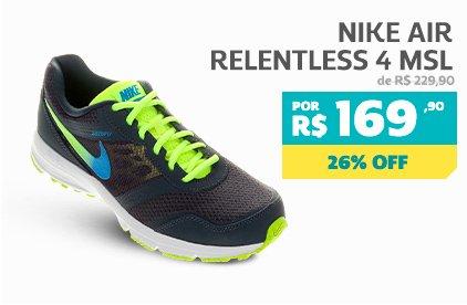 Nike Air Relentless 4 MSL - De 229,90 Por 169,90 - 26% OFF