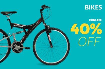 Bikes com até 40% OFF