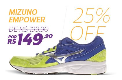 Mizuno Empower - De 199,90 Por 149,90 - 25% OFF