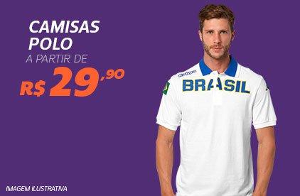 Camisas Polo a partir de R$ 29,90