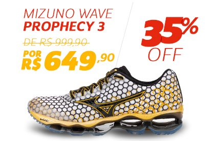 Mizuno Wave Prophecy 3 - De 999,90 Por 649,90 - 35% OFF