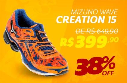 Mizuno Wave Creation 15- De 649,90 Por 399,90 - 38% OFF