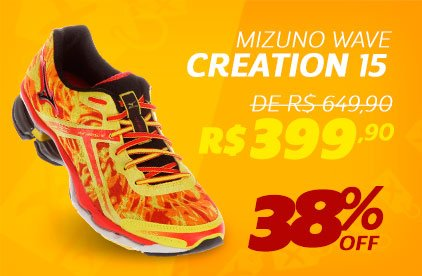 Mizuno Wave Creation 15- De 649,90 Por 399,90 - 38% OFF