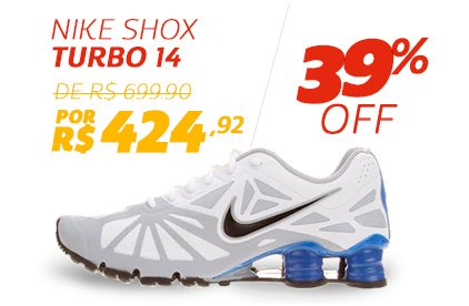 Nike Shox Turbo 14 - De 699,90 Por 424,92 - 39% OFF