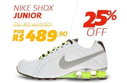 Nike Shox Junior - De 619,90 Por 489,90 - 25% OFF