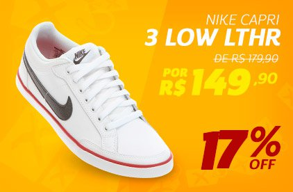 Nike Capri 3 Low LTHR - De 179,90 Por 149,90 - 17% OFF