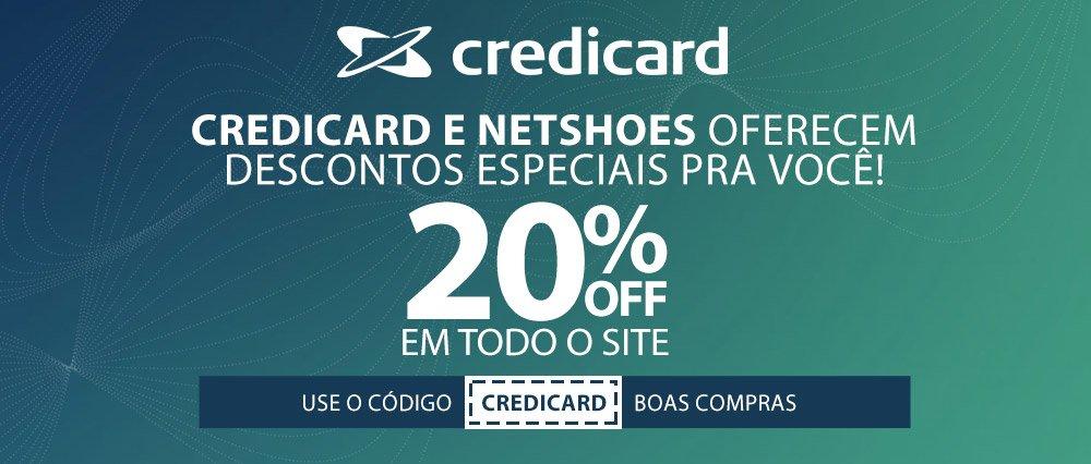 bf0f87ae0cdfc [NETSHOES + Credicard] 20% Off para produtos vendidos e entregues pela  Netshoes - Bem Barato - Cupons Descontos Bugs e Promoções