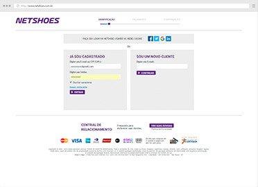 Captura de tela Netshoes