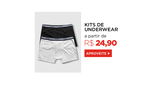 Kits de Underwear a partir de R$ 16,90. Clique aqui!