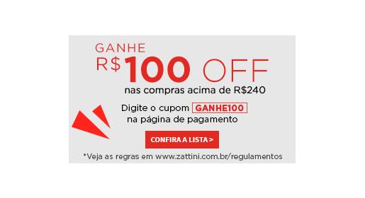 Ganhe R$100 OFF acima de R$ 240. Clique aqui!